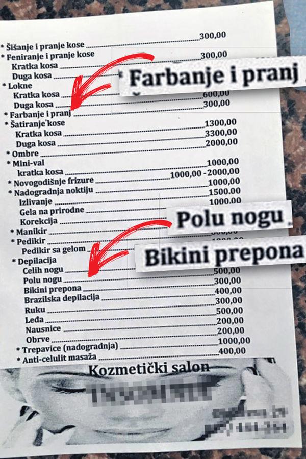 Bratislav Gašić, frizersko-kozmetički salon, salon Insomnija žene , depilacija ,sramota, kobre , obezbeđenje , Kruševac
