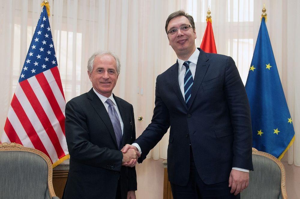 VUČIĆ SA KORKEROM: Senator će pomoći Srbiji da privuče jošš više američkih investitora