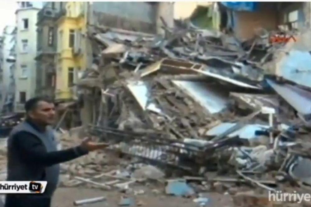 (VIDEO) PRETRAŽUJU RUŠEVINE: Dve zgrade se srušile u centru Istanbula