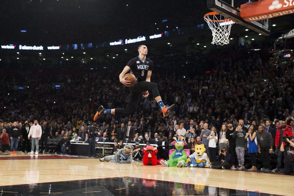 (VIDEO) ONI PRKOSE ZAKONIMA FIZIKE: Lavin u epskom finalu pobedio u zakucavanjima na Ol staru NBA