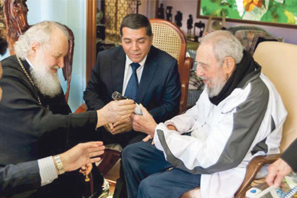 patrijarh Kiril, Fidel Kastro, Kuba, foto reuters