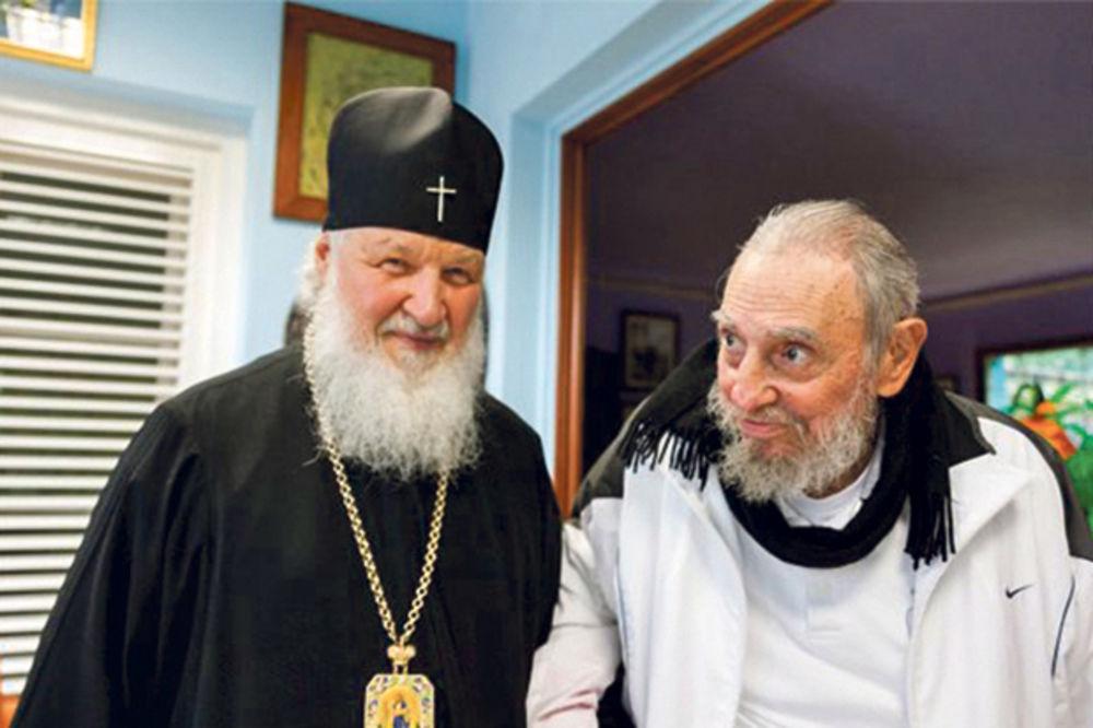 Srdačan susret... Patrijarh Kiril i Fidel Kastro razmenili poklone i zahvalili jedan drugom na podršci