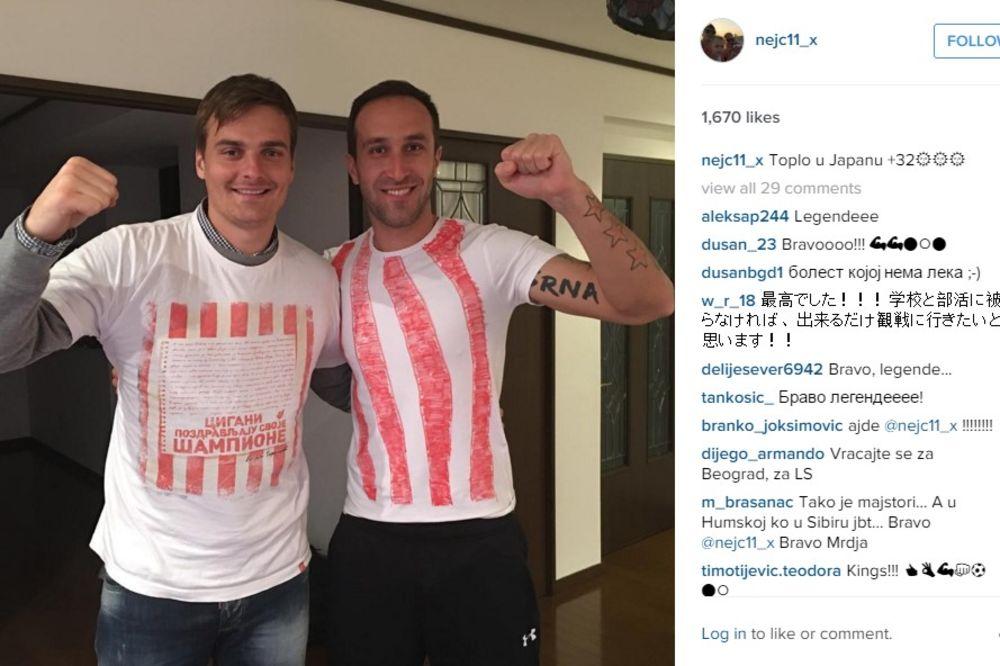 Nejc Pečnik i Dragan Mrđa, foto: Instagram