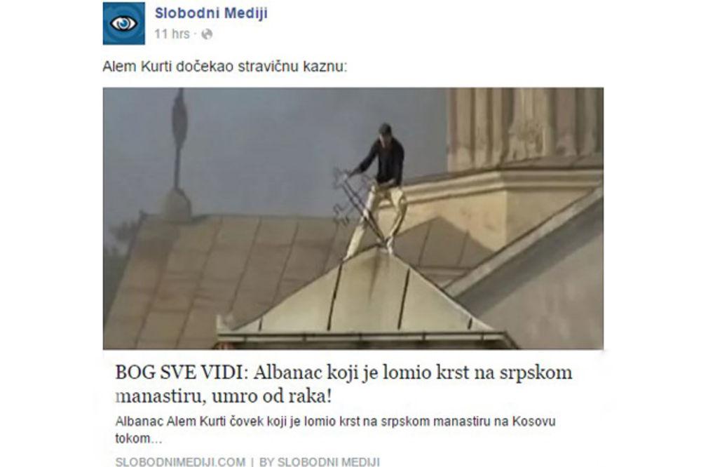 (VIDEO) BOG SVE VIDI: Umro Albanac koji je lomio krst u pogromu 17. marta