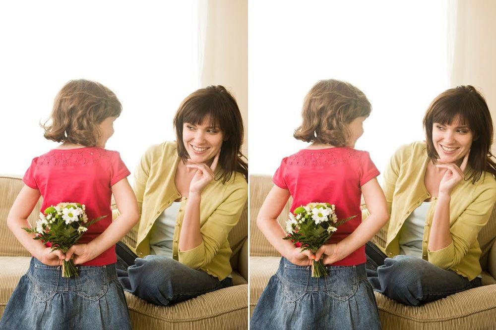 (FOTO) ONA ĆE DA OBRADUJE MAMU: A vi pronađite 7 razlika!