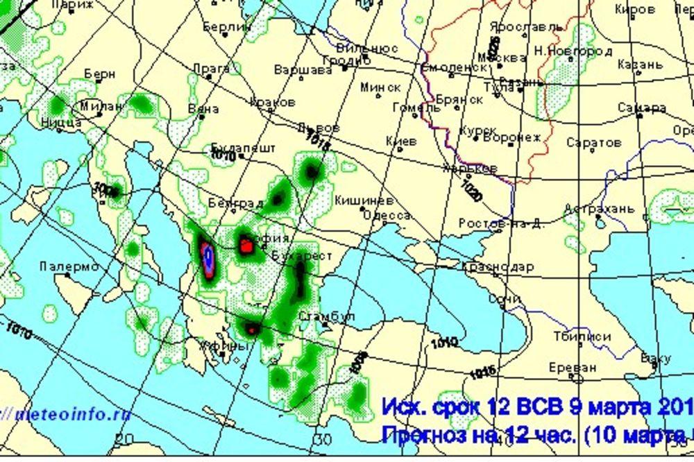 Ruska prognoza za poplave 10 i 11 mart, Foto: http://wmc.meteoinfo.ru/