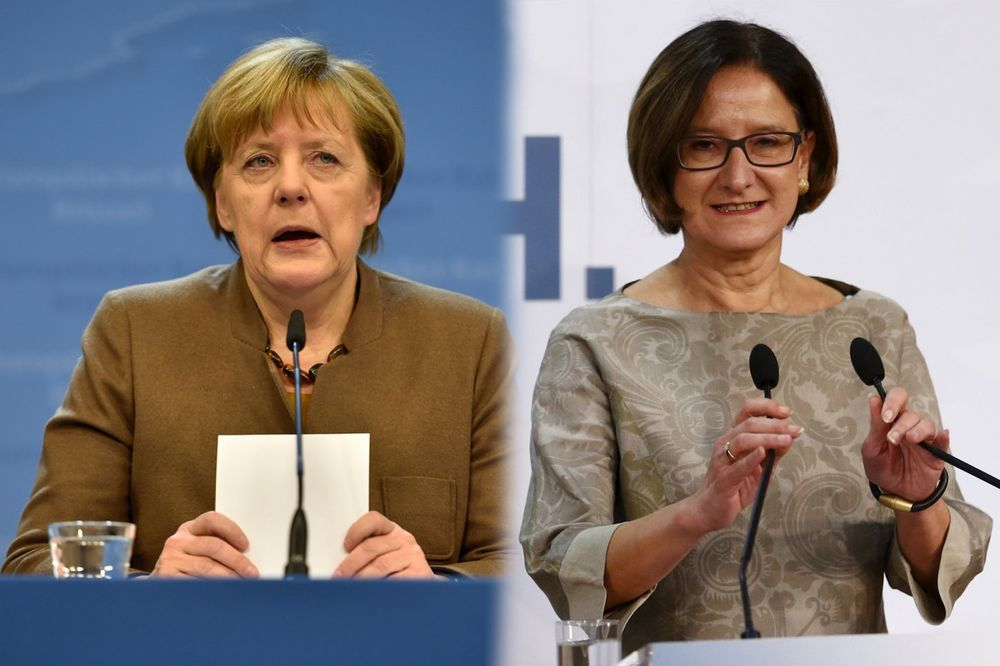 Angela Merkel, Johana Mikl Lajtner foto AP i Rojters
