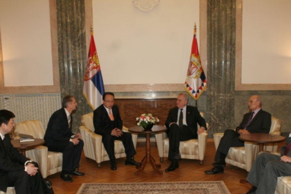 PLOVNI KANAL MORAVA-VARDAR: Predsednik Nikolić razgovarao sa Kinezima o projektu