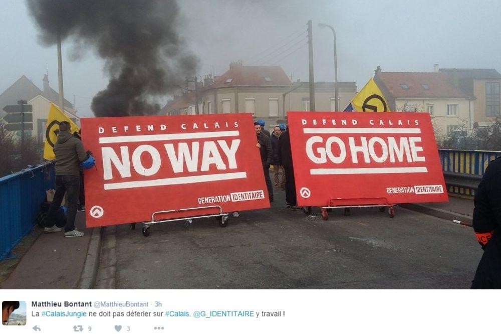 Kale, protesti, desničari, Foto: Tviter/Matthieu Bontant