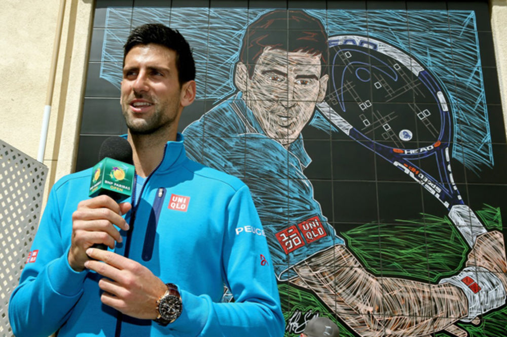 Novak Đoković, mural, masters tenis, Indijan Vels, Foto Profimedia
