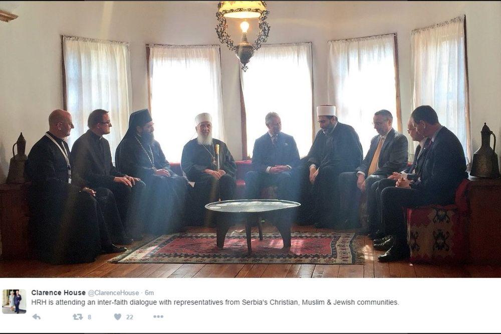 (FOTO) MEĐURELIGIJSKI DIJALOG: Princ Čarls i patrijarh Irinej na sastanku sa verskim liderima