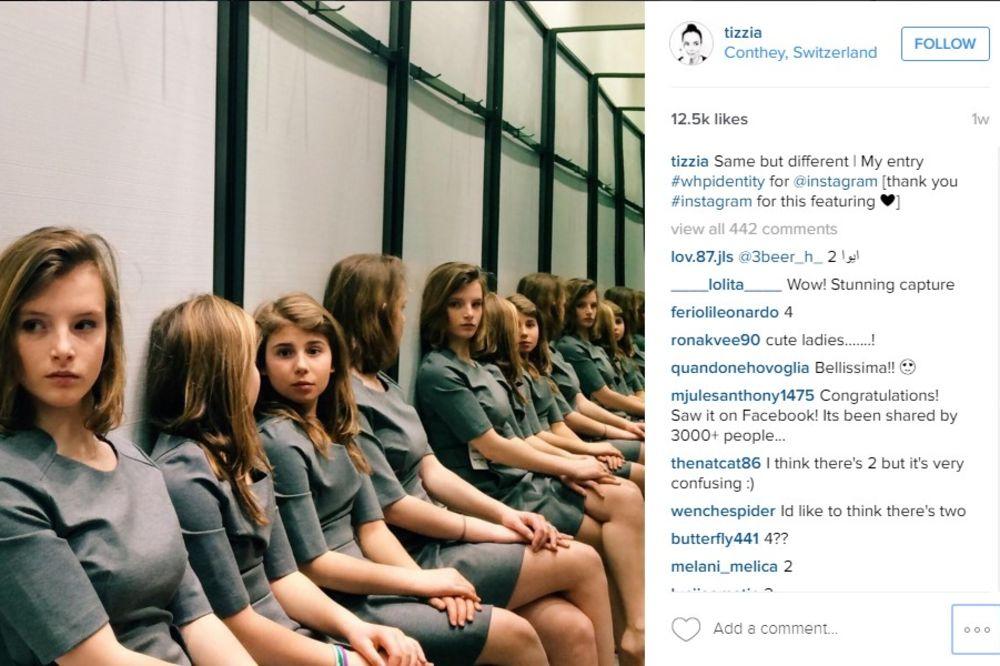 FOTKA KOJA JE ZBUNILA INSTAGRAM: Koliko devojčica ima na slici?!
