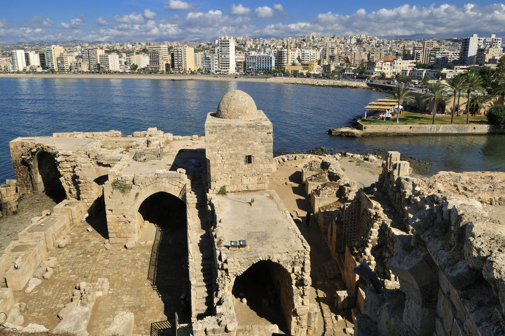 Pogled na moderan grad iz Morske tvrđave Sidona (Foto: Profimedia)
