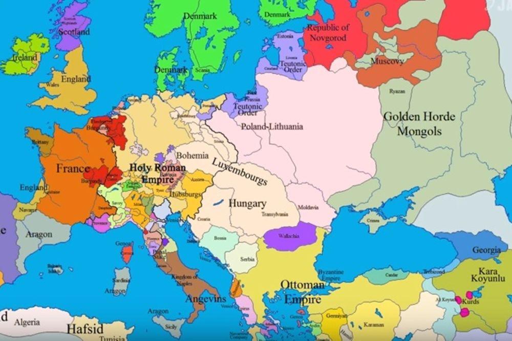 karta evrope mapa VIDEO) ISTORIJA EVROPE: Kako se menjala slika Stare dame od  karta evrope mapa