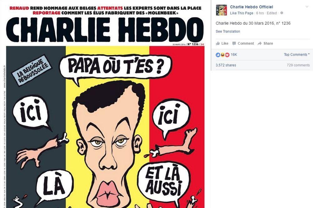 ŠARLI EBDO PONOVO PROVOCIRA: Evo kakvu je karikaturu objavio o napadu u Briselu
