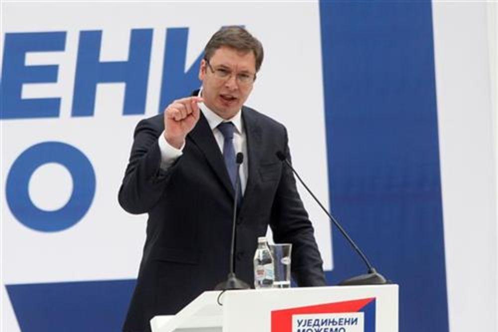 MITING SNS Vučić: U Novi Sad dolaze dve firme koje otvaraju 5.000 radnih mesta