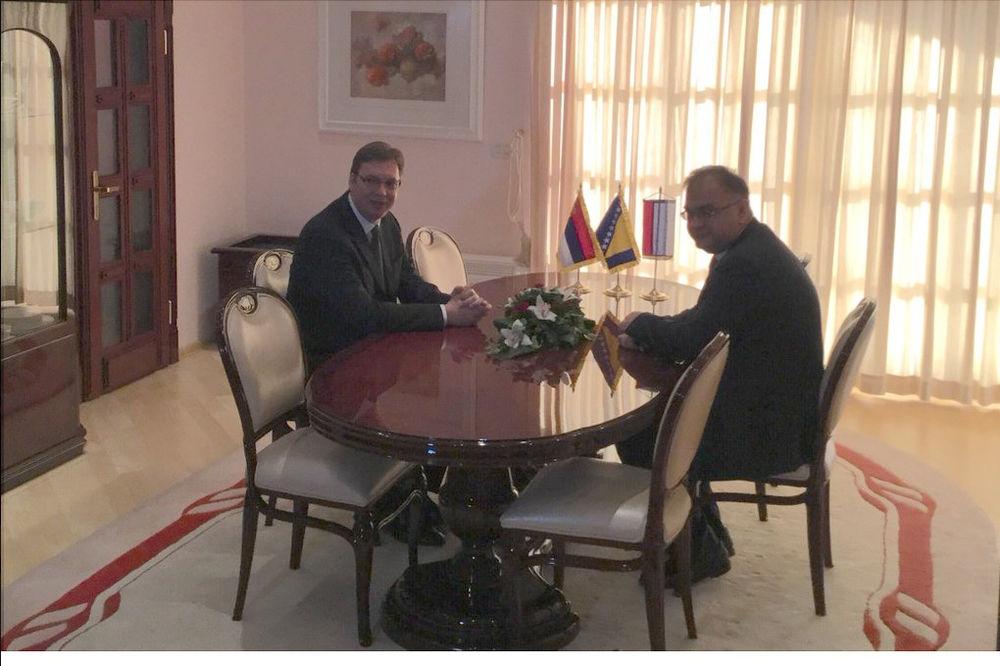 SASTANAK SA SRPSKIM ČLANOM PREDSEDNIŠTVA BIH: Vučić danas sa Mladenom Ivanićem