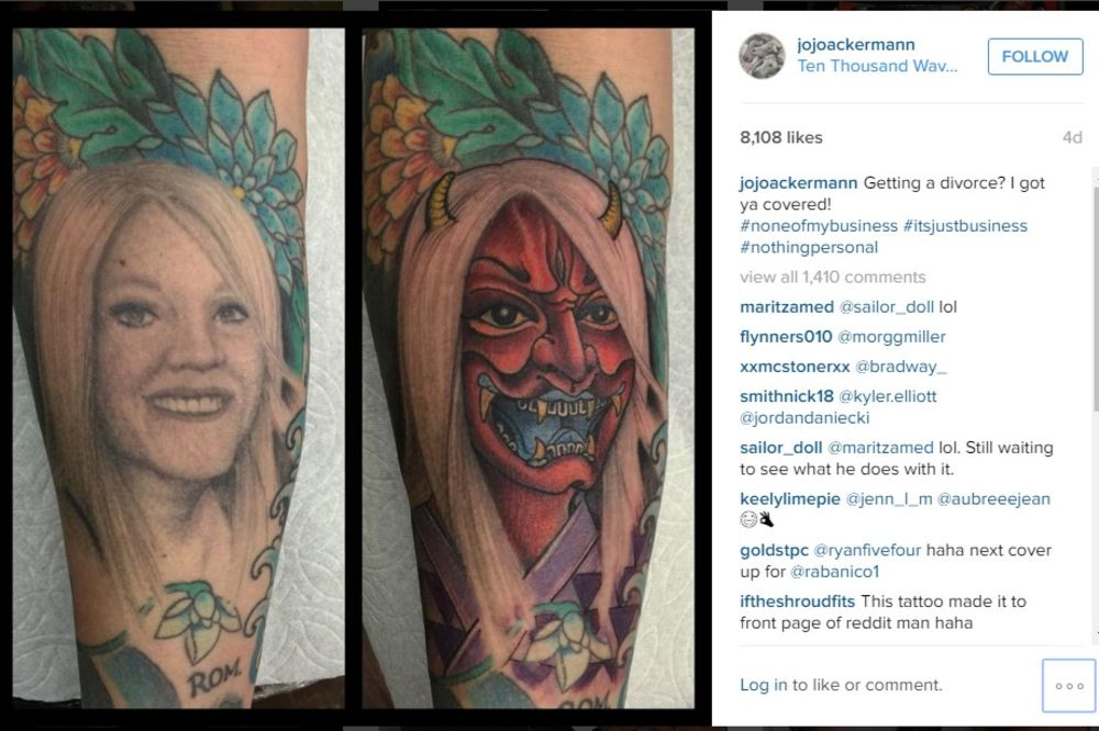 Istetovirao je lik žene na ruci, a kada se razveo, prepravio je tetovažu. Uslediće šok!
