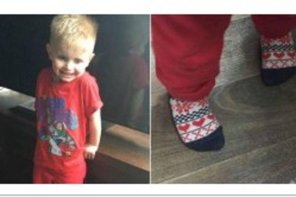 dečak, čarape, srca, foto facebook