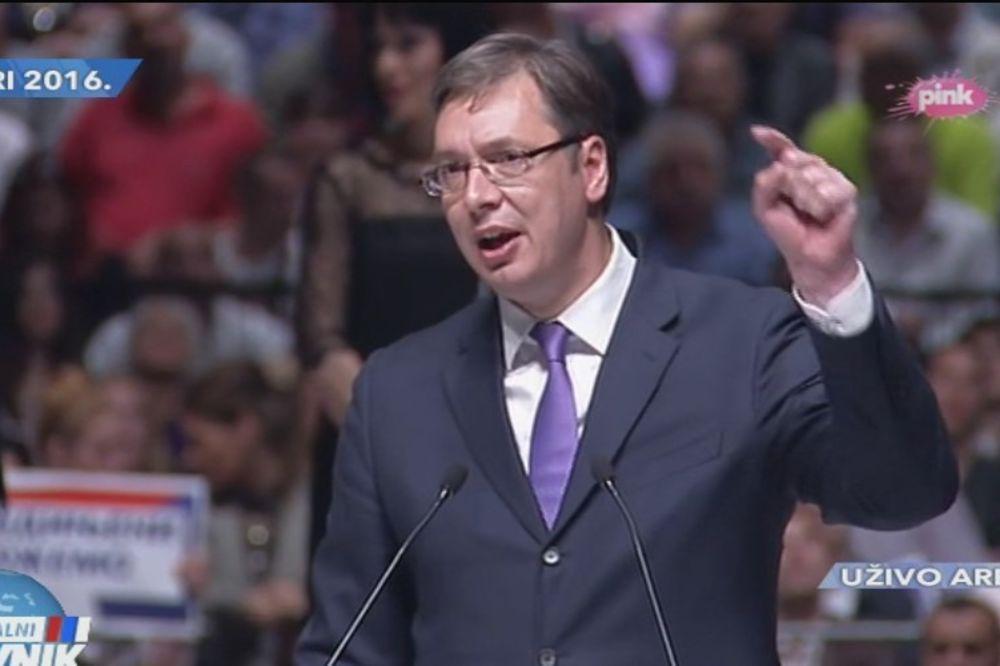 (VIDEO) ZAVRŠNA KONVENCIJA SNS - VUČIĆ: Srbija se podiže, građani će živeti bolje!