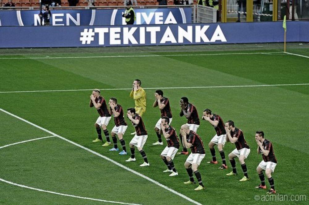 (VIDEO) NE POMAŽE NI HAKA: Fudbaleri Milana plesali pa remizirali sa Kaprijem