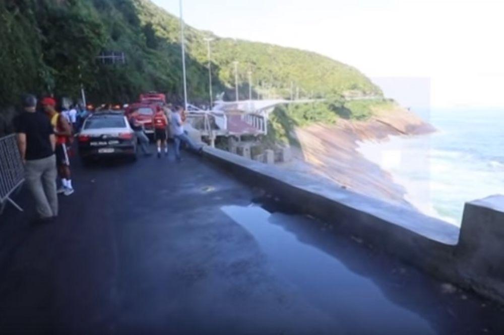 (FOTO, VIDEO) KATASTROFA U BRAZILU: Srušila se olimpijska staza u Riju, dvoje poginulo