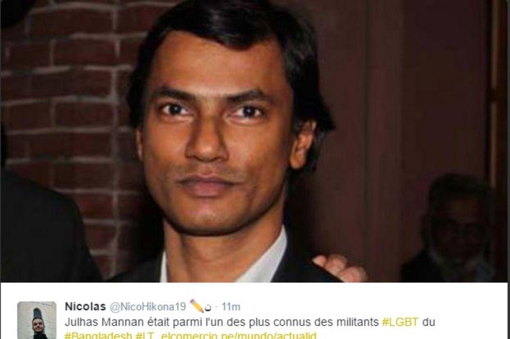 ZLOČIN U BANGLADEŠU: LGBT aktivista isečen na smrt