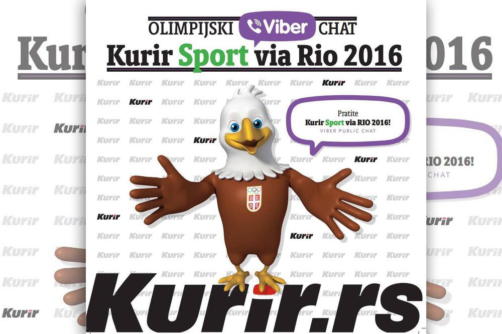 Lansiranje olimpijskog Kurir sport Vajber četa u susret Olimpijskim igrama
