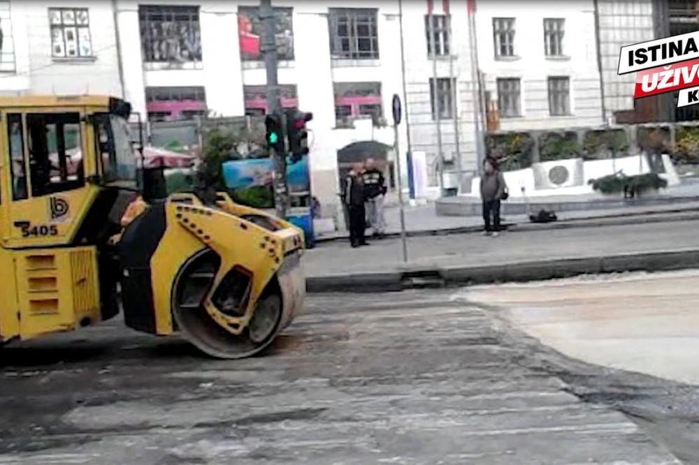 (KURIR TV) RADOVI KOD BEOGRAĐANKE JOŠ TRAJU: Saobraćaj u centru Beograda blokiran već 24 časa!