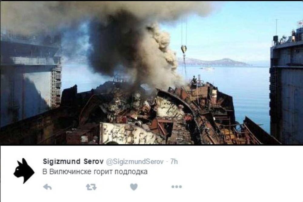 (FOTO) DRAMA U RUSIJI: Zapalila se stara nuklearna podmornica na Kamčatki