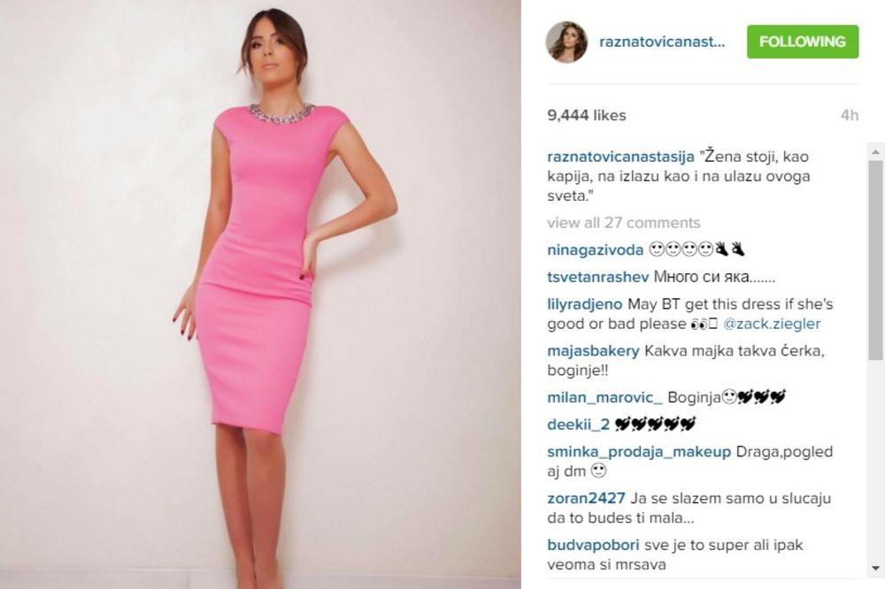 (FOTO) ONA ĆE PREVAZIĆI MAMU: Anastasija Ražnatović oduševljava svojim izgledom!