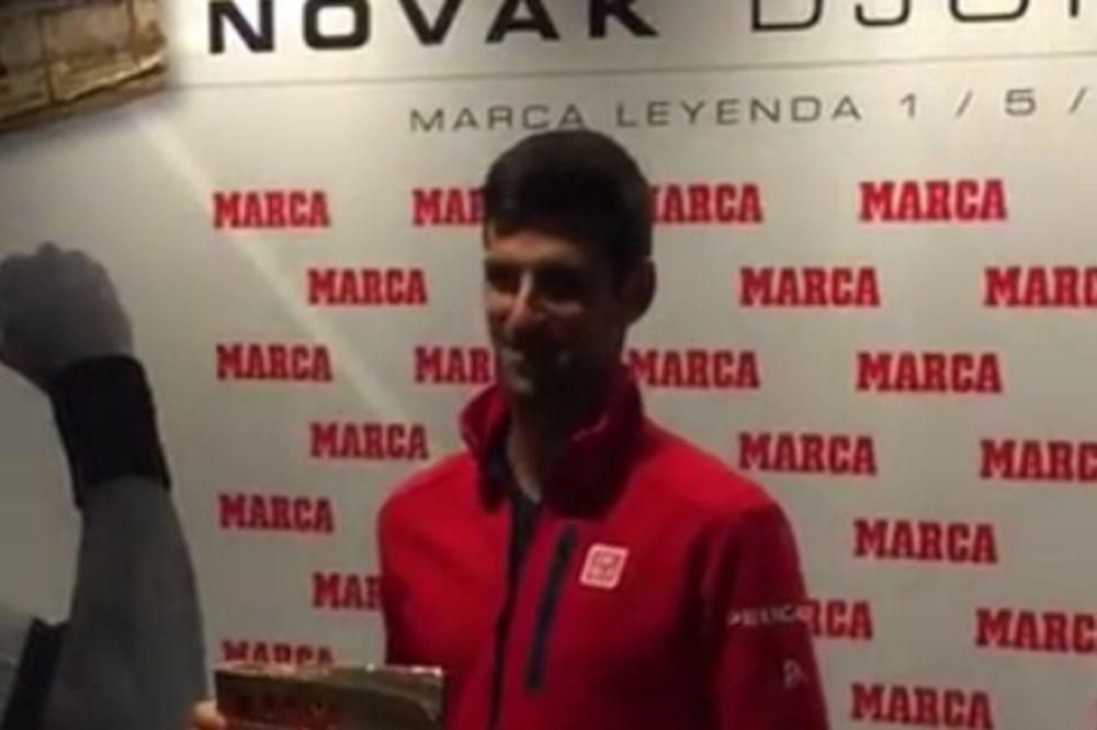 (VIDEO) ŠPANCI SE POKLONILI NOVAKU: Evo koje je priznanje Novak dobio u Madridu
