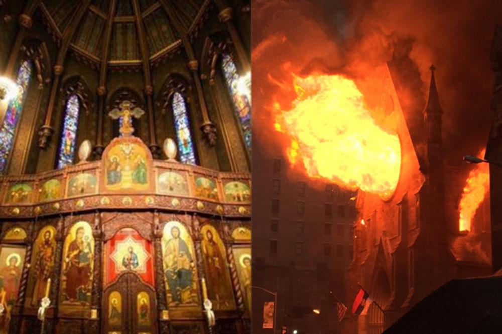 (FOTO, VIDEO) POŽAR PROGUTAO 162 GODINE LEPOTE: Pogledajte srpsku crkvu na Menhetnu nekad i sad