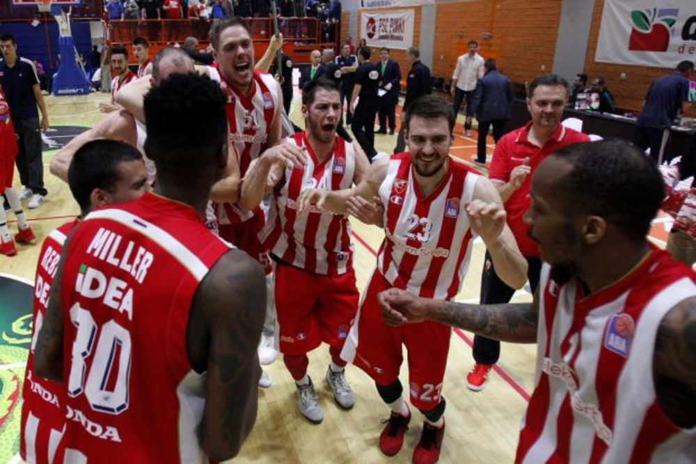 (VIDEO) Pogledajte slavlje igrača i navijača Crvene zvezde posle odbrane titule u ABA ligi