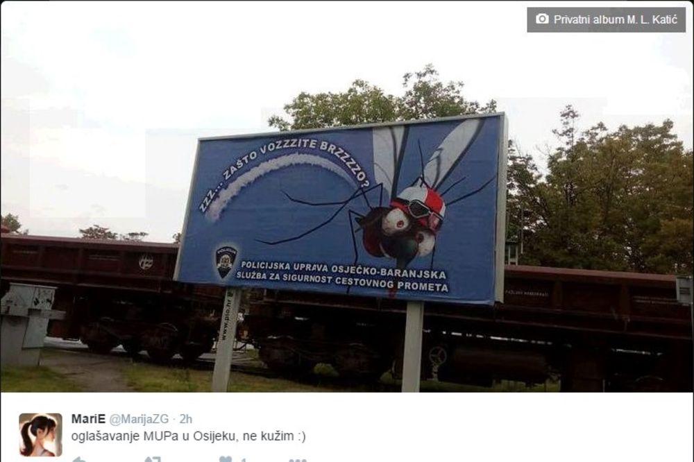 KOMARCEM PROTV BRZE VOŽNJE: Internet ismejao policijsku akciju u Osijeku