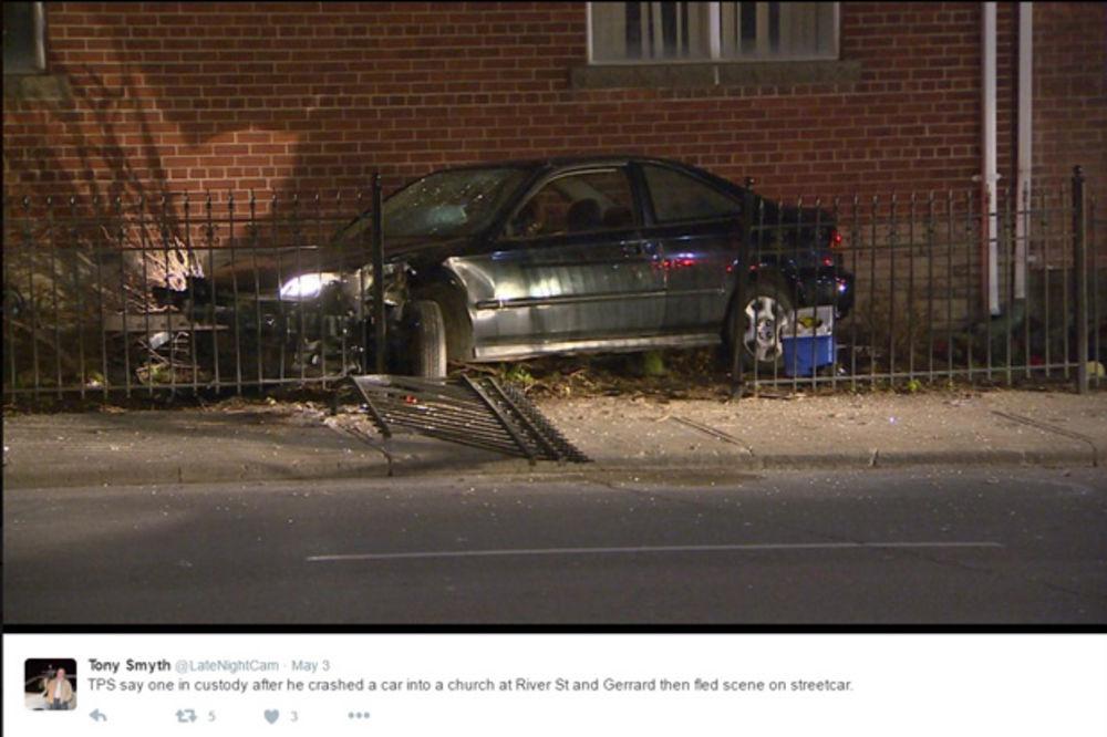LJUDI, ŠTA JE OVO: Zakucao se automobilom u srpsku pravoslavnu crkvu u Torontu, pa pobegao!