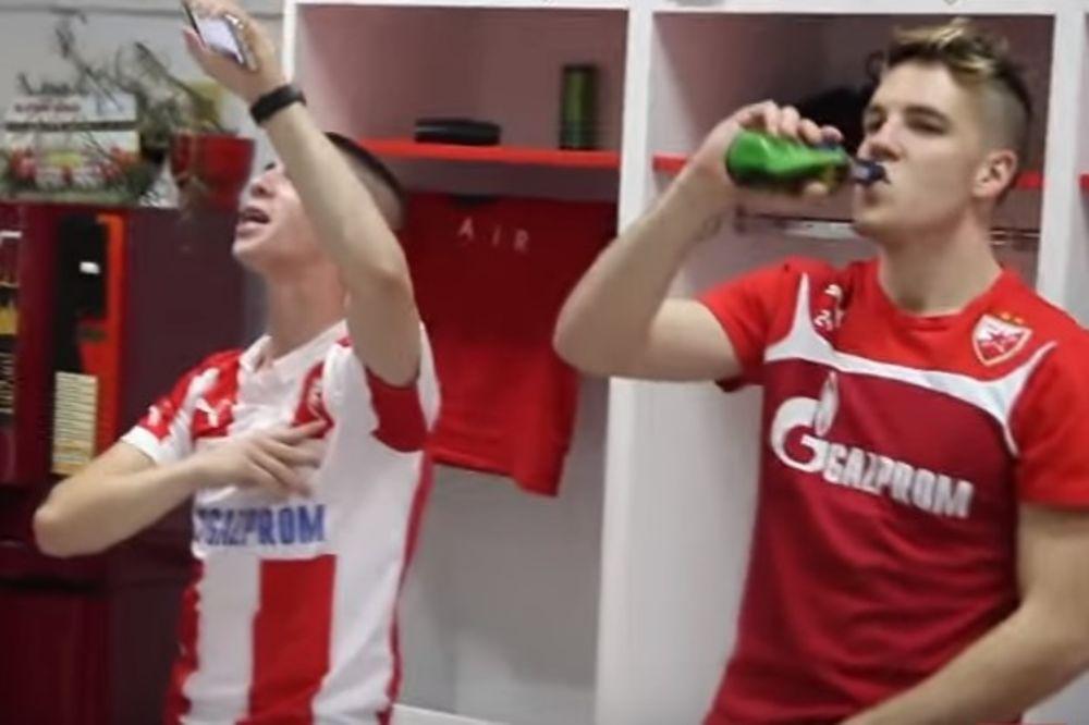 (VIDEO) EKSKLUZIVNI SNIMCI: Pogledajte slavlje fudbalera Crvene zvezde u svlačionici