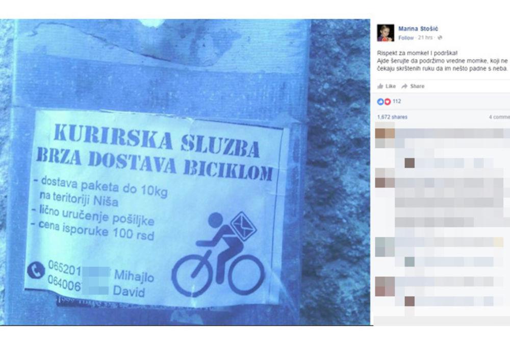 NE ČEKAJU DA IM PADNE S NEBA: Dvojica Nišlija smislili kurirsku službu na biciklima!