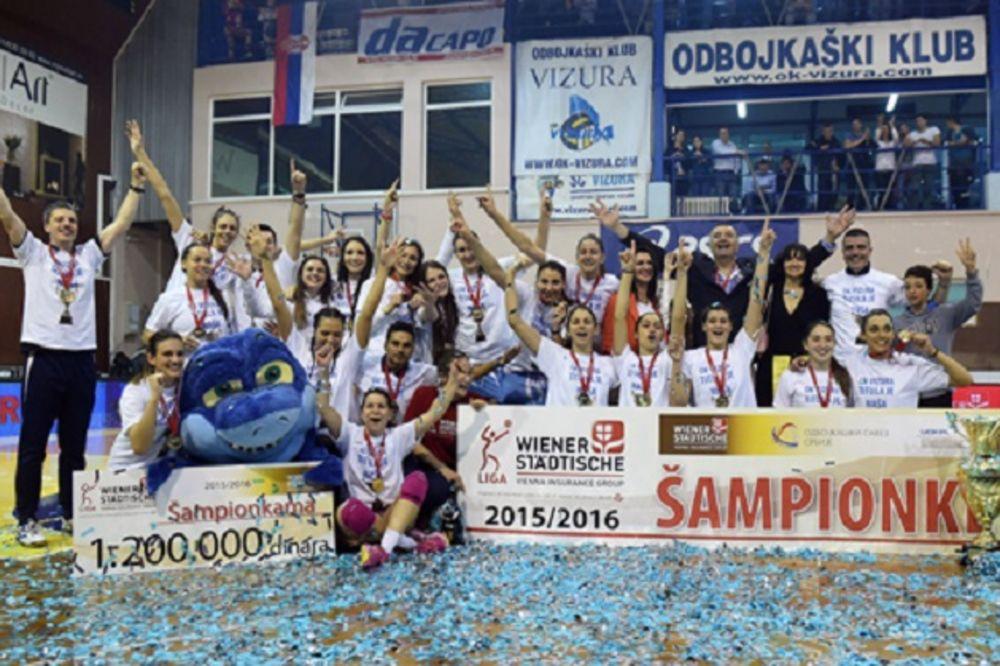 DRAMA U FINALU: Odbojkašice Vizure pobedile Jedinstvo i treći put uzastopno osvojile titulu