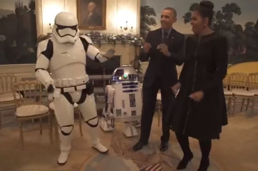 (VIDEO) IMPERATOR ILI DŽEDAJ? Obama proslavio svetski dan Ratova zvezda