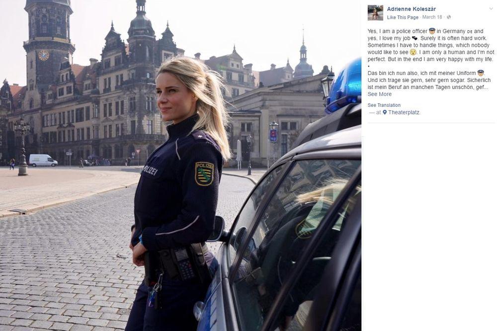(FOTO) ZGODNA POLICAJKA ZAPALILA MREŽE: Da poželite da vas hapsi svaki dan