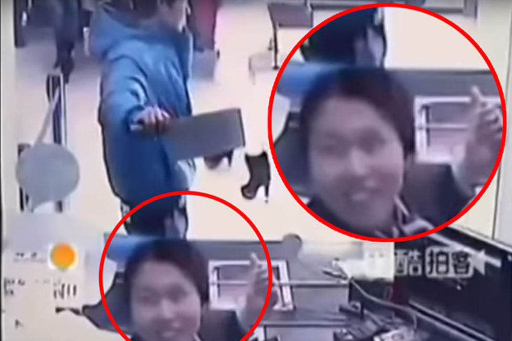(VIDEO) OVO JE GENIJALNO: Pošao u pljačku banke satarom, službenica umrla od smeha!
