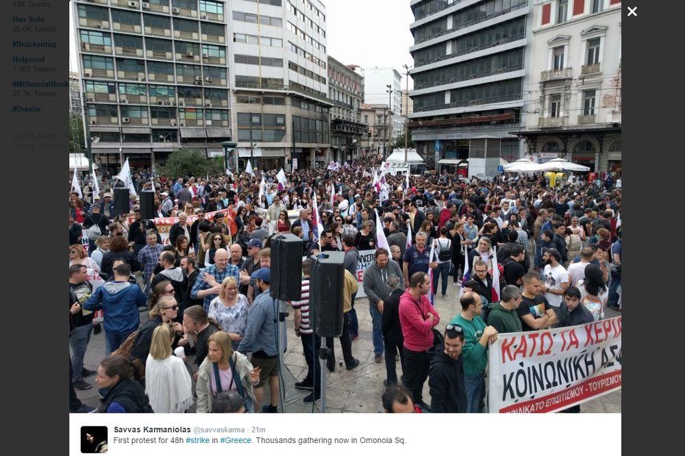 GRČKA PARALISANA: Počeo dvodnevni generalni štrajk