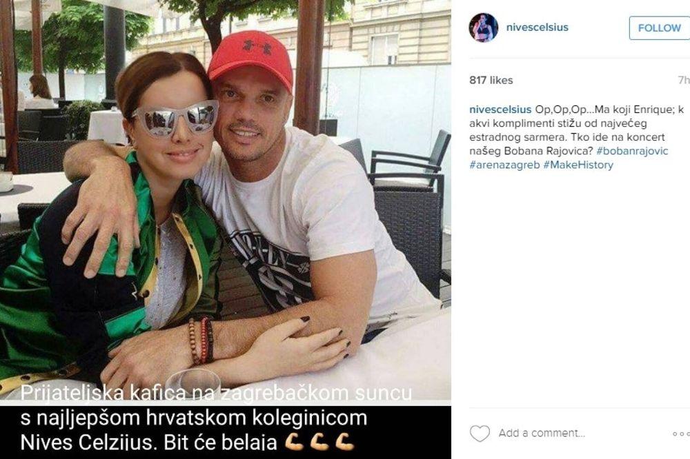 (FOTO) ON JOJ JE BOLJI OD ENRIKEA IGLESIJASA: Nives Celzijus odlepila za Bobanom Rajovićem