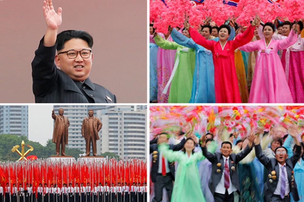 (VIDEO I FOTO) POD BUDNIM OKOM VOLJENOG VOĐE: Živopisna parada u Pjongjangu