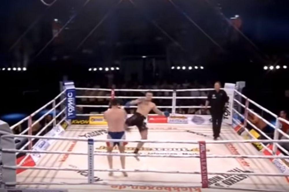 VIDEO BRZO GA OLADIO: Pogledajte jedan od najbržih brutalnih nokauta u istoriji borilačkih sportova