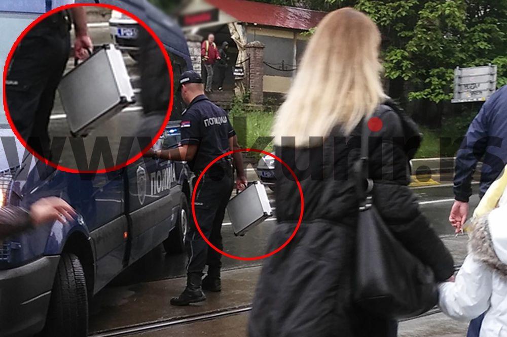 (FOTO) EVAKUISAN AUTOBUS, BLOKIRANO NASELJE: Ovo je kofer koji je izazvao paniku na Banovom brdu!
