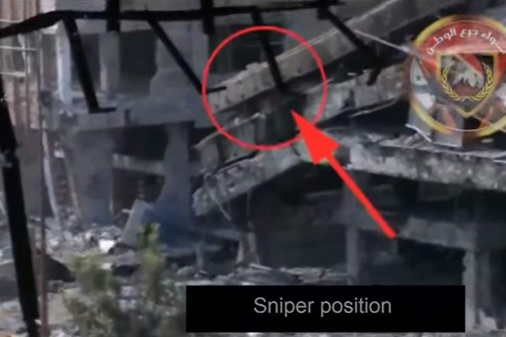 (VIDEO) NI SLUTIO NIJE Snajperista ID ubijao iz srušene zgrade, evo šta su sirijski vojnici uradili