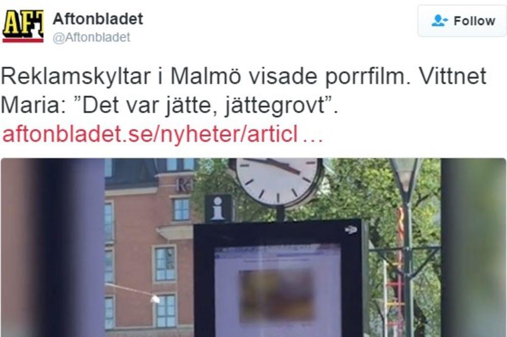(FOTO) HAKERI ŠOKIRALI SUGRAĐANE: Na bilbordima pustili porniće!