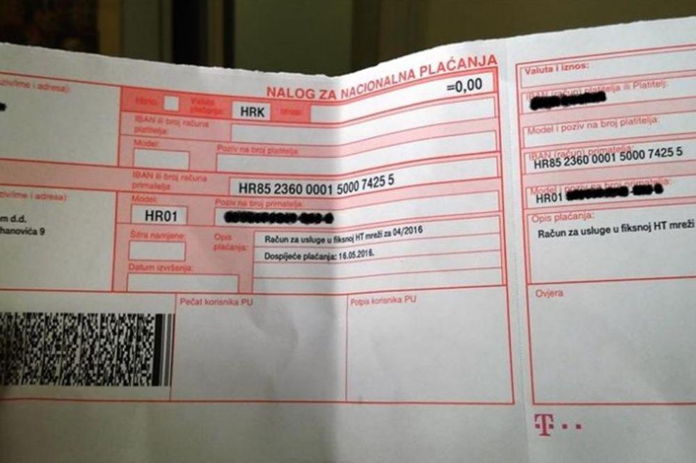 (FOTO) OČAJNI ZADRANIN: Čovek ne zna kako da plati ovoliki račun!?